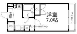 JR東海道・山陽本線 南草津駅 徒歩33分の賃貸マンション 1階1Kの間取り