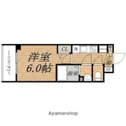 Osaka Metro谷町線 天満橋駅 徒歩6分の賃貸マンション 10階1Kの間取り
