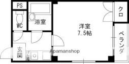 京阪本線 土居駅 徒歩4分の賃貸マンション 3階1Kの間取り