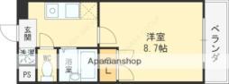 Osaka Metro谷町線 守口駅 徒歩9分の賃貸マンション 4階1Kの間取り