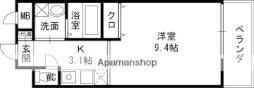 京阪本線 土居駅 徒歩4分の賃貸マンション 5階1Kの間取り