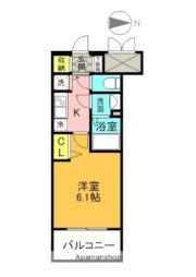 アドバンス大阪城北ルミウス 7階1Kの間取り