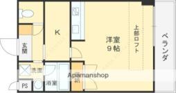 おおさか東線 城北公園通駅 徒歩6分の賃貸マンション 1階1Kの間取り