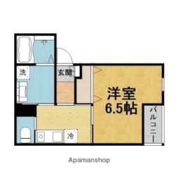 阪急宝塚本線 曽根駅 徒歩4分の賃貸アパート 1階1Kの間取り