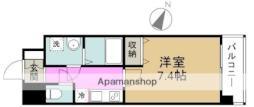 Pi'ece charmante Fukushima 4階1Kの間取り
