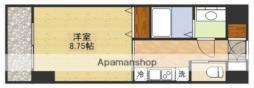 第6クリスタル新大阪 6階1Kの間取り
