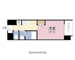 JR東西線 海老江駅 徒歩1分の賃貸マンション 11階1Kの間取り