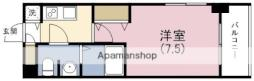 JR東西線 海老江駅 徒歩3分の賃貸マンション 15階1Kの間取り