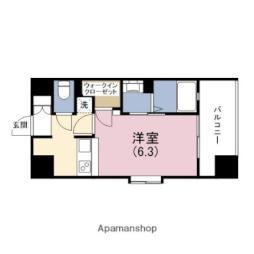 阪神本線 野田駅 徒歩6分の賃貸マンション 7階1Kの間取り