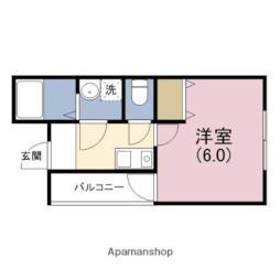 阪神本線 千船駅 徒歩7分の賃貸アパート 2階1Kの間取り