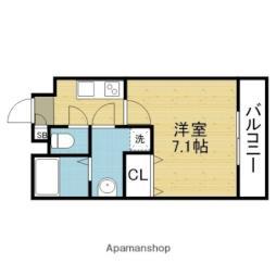 JR関西本線 平野駅 徒歩9分の賃貸アパート 2階1Kの間取り
