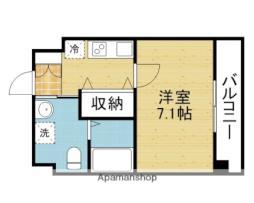 Osaka Metro千日前線 今里駅 徒歩1分の賃貸マンション 10階1Kの間取り