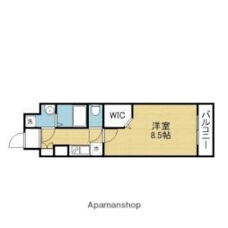 Osaka Metro千日前線 今里駅 徒歩2分の賃貸マンション 6階1Kの間取り