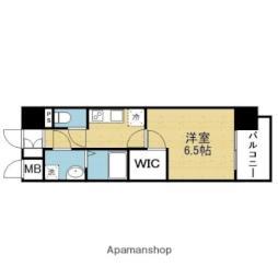 Osaka Metro千日前線 今里駅 徒歩7分の賃貸マンション 12階1Kの間取り