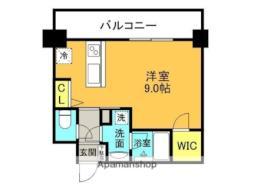 JR東海道・山陽本線 甲子園口駅 徒歩3分の賃貸マンション 7階ワンルームの間取り