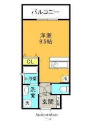 JR東海道・山陽本線 甲子園口駅 徒歩3分の賃貸マンション 6階ワンルームの間取り