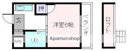 近鉄大阪線 桜井駅 徒歩8分の賃貸マンション 3階1Kの間取り