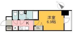 広島電鉄1系統 市役所前駅 徒歩7分の賃貸マンション 12階1Kの間取り