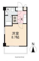 JR高徳線 栗林公園北口駅 徒歩3分の賃貸マンション 6階1Kの間取り