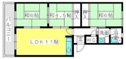 JR鹿児島本線 箱崎駅 徒歩6分の賃貸マンション 3階3LDKの間取り