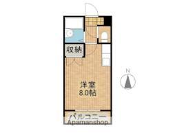 JR日豊本線 清武駅 徒歩14分の賃貸マンション 5階ワンルームの間取り