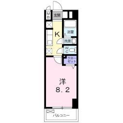 M&K.ホープマンション 5階1Kの間取り
