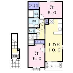 カランドリエ 2階2LDKの間取り